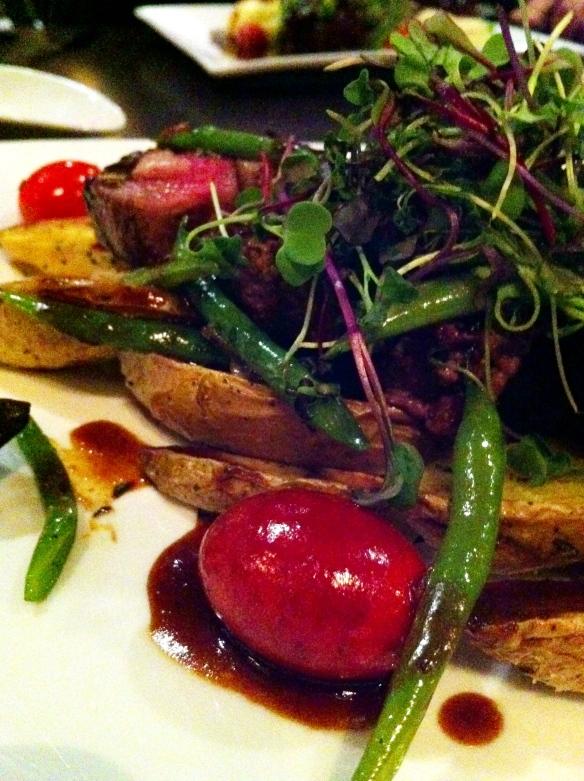 Lamb, potatoes, haricots vert