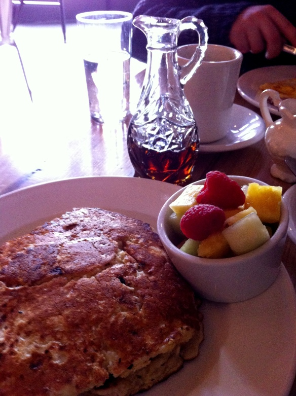 Apple cheese pancakes